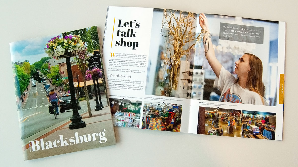 A photo of the Welcome to Blacksburg magazine